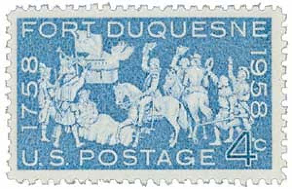 1958 4¢ Fort Duquesne
