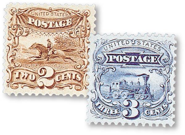 1869 2c & 3c Pictorials, 2 Stamps