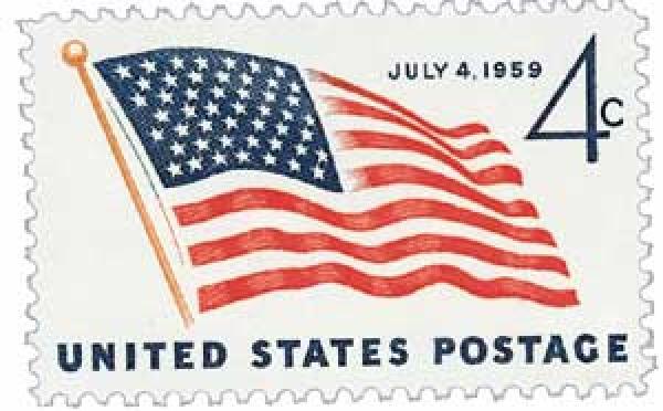 1959 4c US Flag, 49 stars