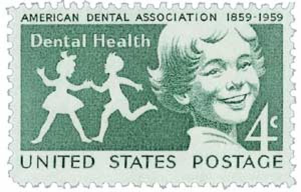 1959 4c American Dental Association, Dental Health