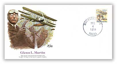 Item #113507B – Commemorative cover honoring aviator Glenn L. Martin.