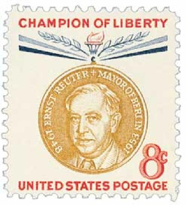 1959 8c Champions of Liberty: Ernst Reuter