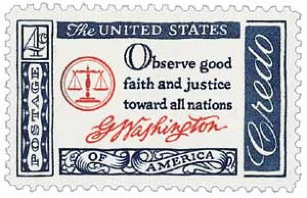 1960 4c American Credo: George Washington