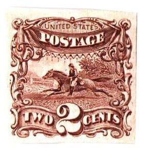 1869 2c brown