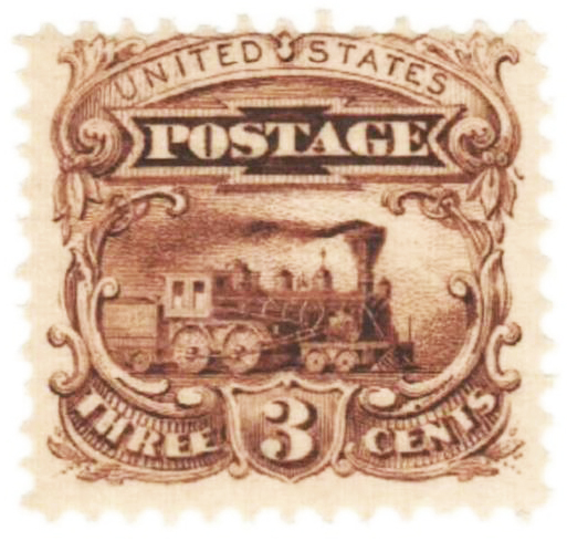 1869 3c Essay, Orange Brown