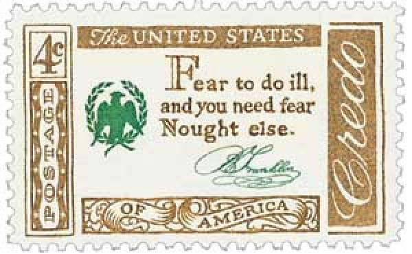 1960 4c American Credo: Benjamin Franklin