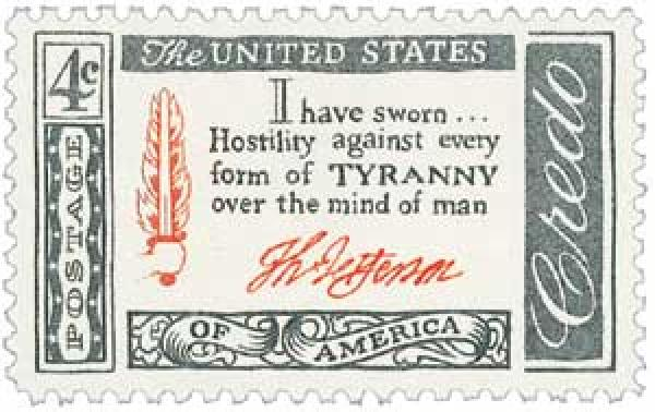 1960 4c American Credo: Thomas Jefferson