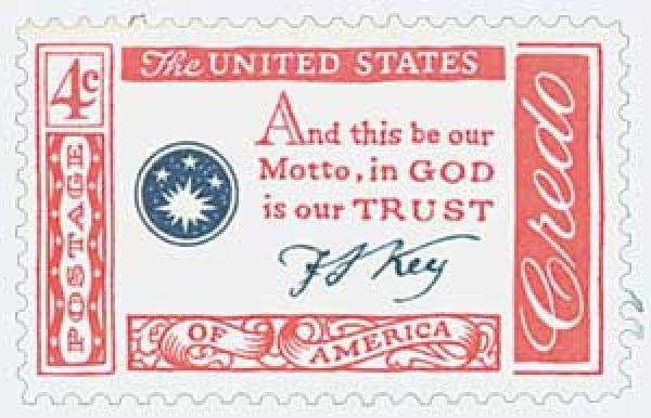 1960 4c American Credo: Francis Scott Key