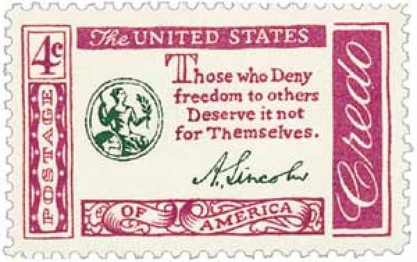 1960 4c American Credo - A. Lincoln