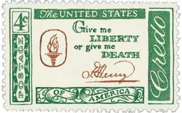 1961 4c American Credo: Patrick Henry