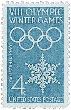 1960 4c 8th Winter Olympic Games