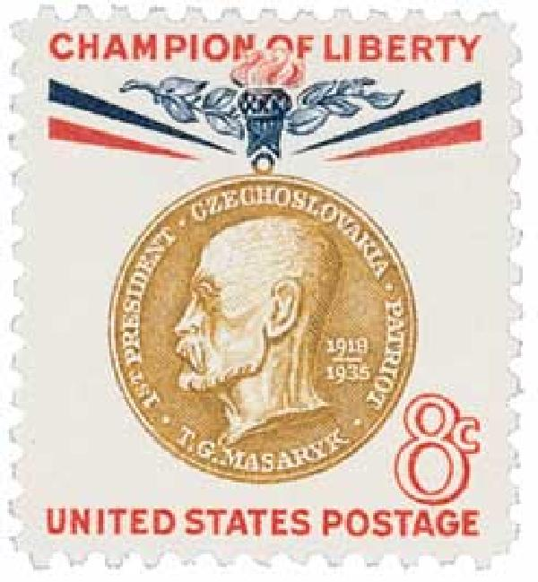 1960 8c Champion of Liberty: Thomas G. Masaryk