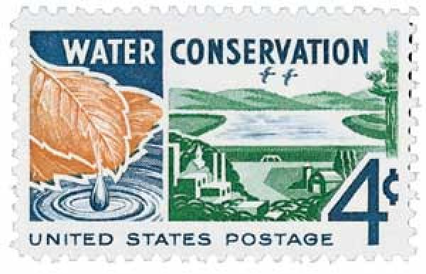 1960 Water Conservation stamp