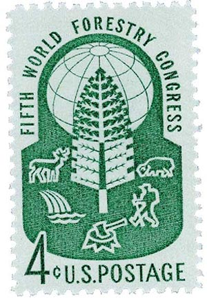 1960 4c World Forestry Congress