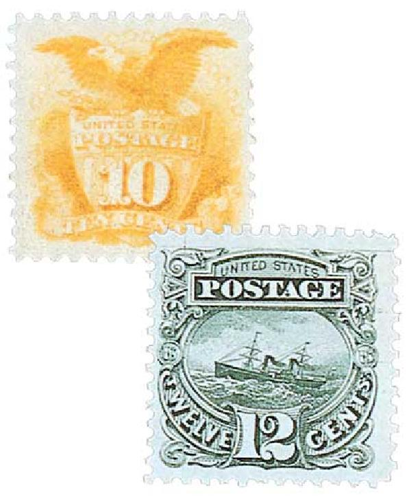 1869 10c and 12c Pictorial Issues