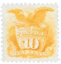 1869 10c Shield and Eagle, yellow