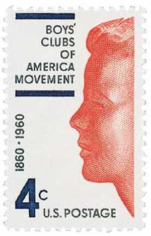 1960 4c Boys Clubs of America Movement