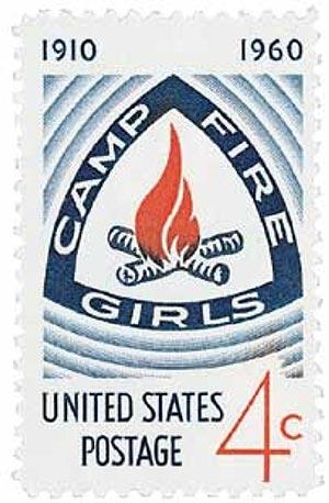 1960 Camp Fire Girls stamp