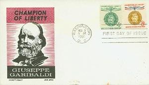 1960 4c + 8c Giuseppe Garibaldi