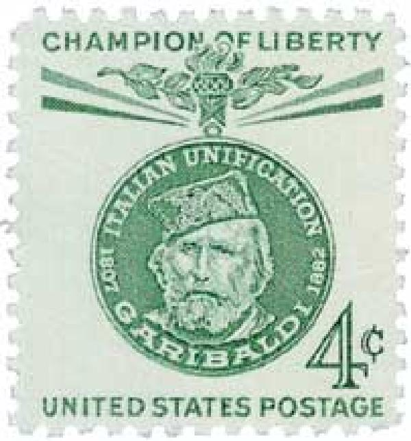 1960 4c Champions of Liberty: Giuseppe Garibaldi