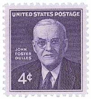1960 4c John Foster Dulles