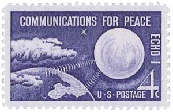 1960 4c Echo I, Communications for Peace