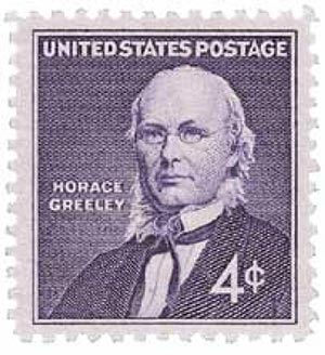 1961 4c Horace Greeley