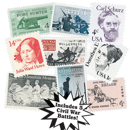 1961-87 Heros and Heroines, 9 stamps