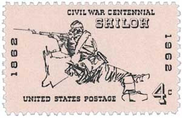 1962 4c Civil War Centennial: Battle of Shiloh