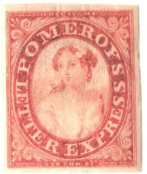 1844 5c red