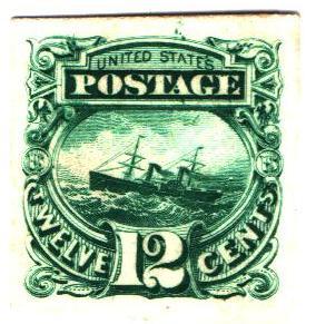 1869 12c green