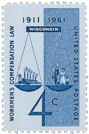 1961 Workmen's Compensation stamp