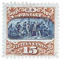 1869 15c Columbus Landing, type II