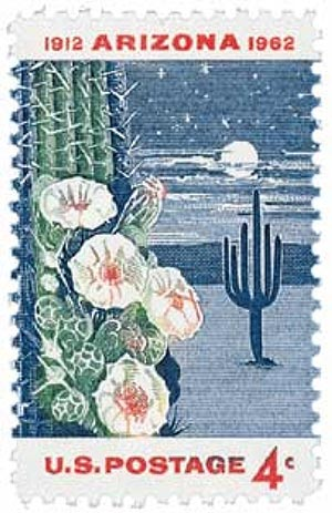 1962 Arizona statehood stamp