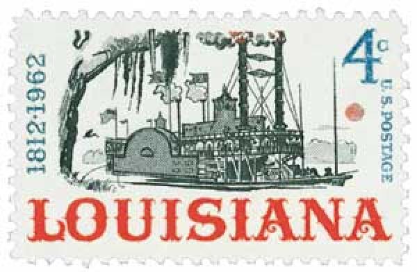 1962 4c Louisiana Statehood