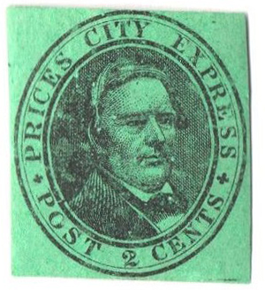 1858 2c black, green
