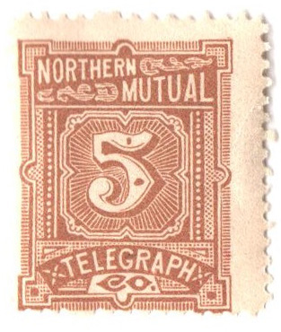 1883 5c yel brn,perf 12,'North. N.Y.'
