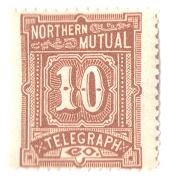 1883 10c yel brn,perf 12,'North. N.Y.'