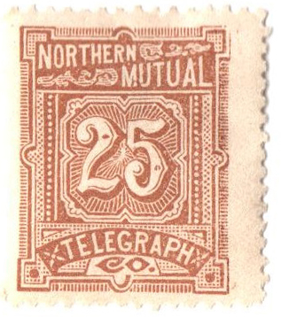 1883 25c yel brn,perf 14,'North. N.Y.'