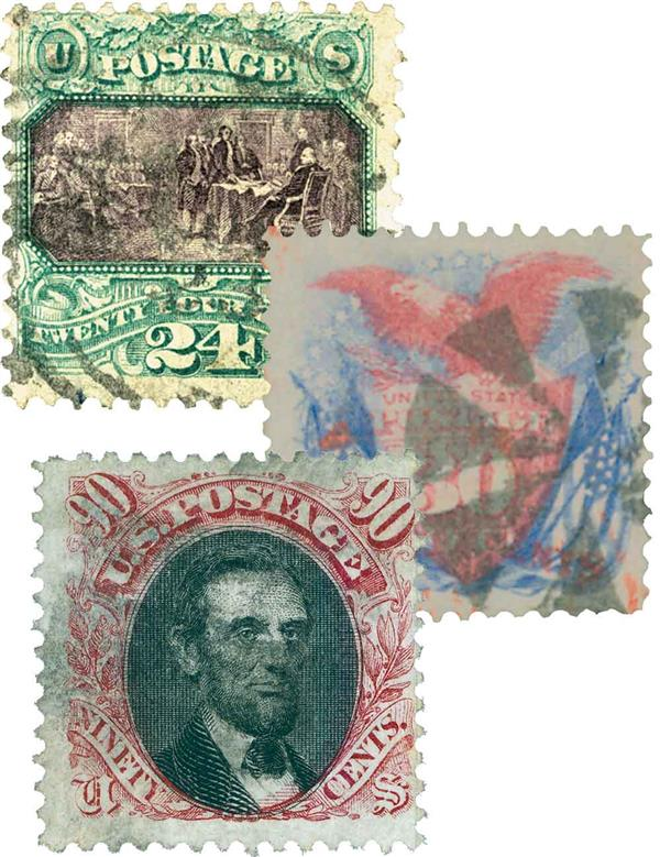 1869 Pictorial Issues, 3 stamps