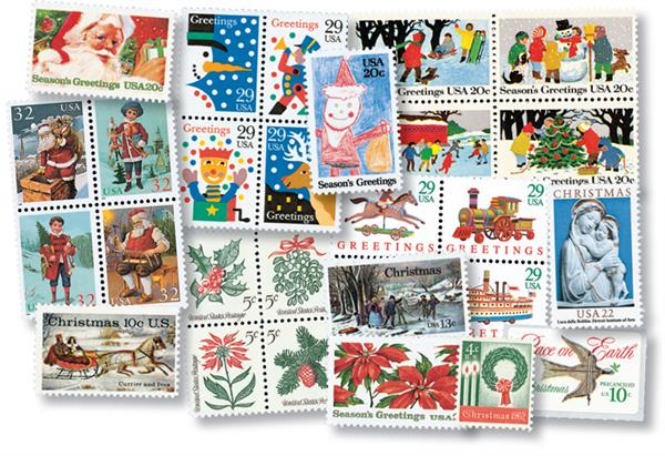 40 Years of Christmas Favorites, 28 stamps from 1962-95
