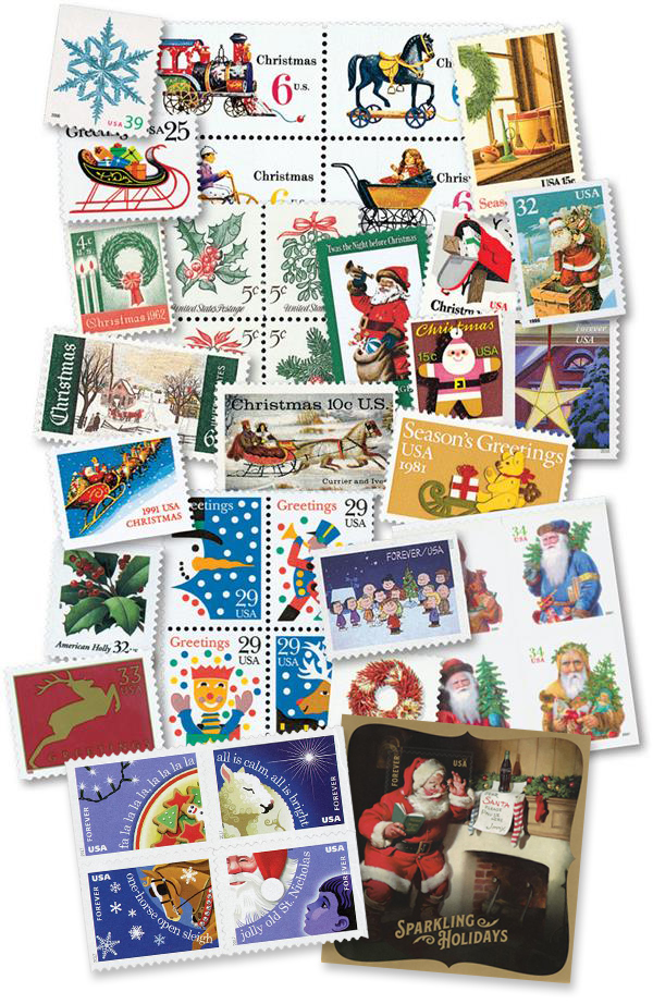 1962-2018 Contemporary Christmas, complete set of 249 stamps