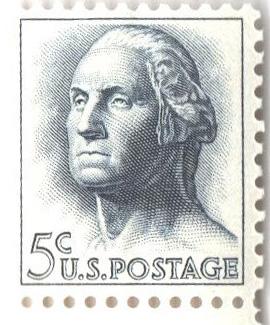1962-66 5c George Washington,tagged