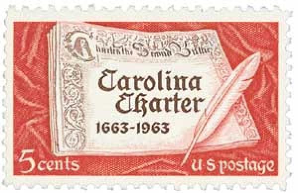 1963 5c Carolina Charter