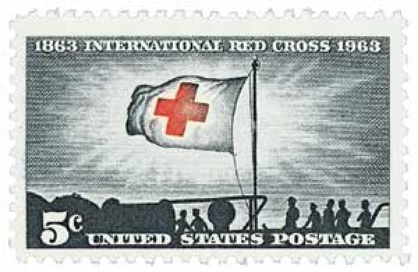 1963 5c International Red Cross Centennial