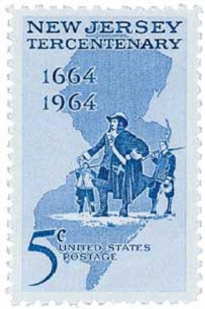 1964 5c New Jersey Tercentenary