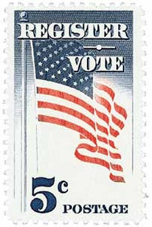 1964 5c Register and Vote
