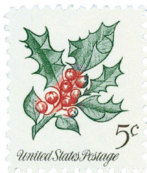 1964 5c Christmas Holly