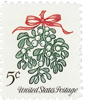 1964 Christmas, Mistletoe 5c