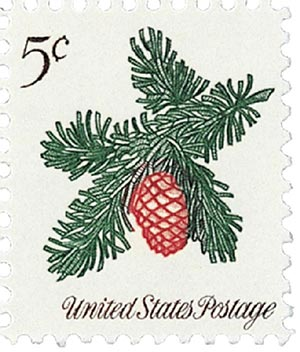 1964 Christmas, Sprig of Conifer 5c